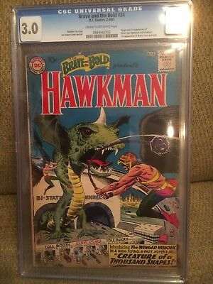 Brave and the Bold #34   Key Issue 1st Hawkman Appearance  CGC 3.0 GD/VG