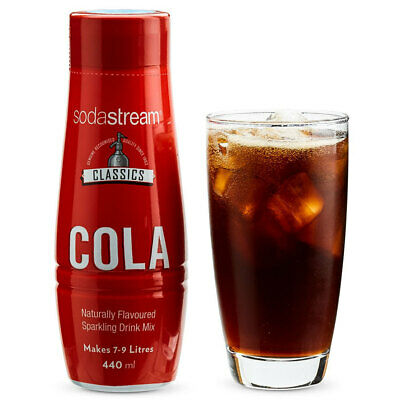 SodaStream Classics Cola 440ml/Sparkling Soda Water Syrup Drink Mix/Makes 9L