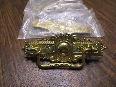 3 Reproduction Vintage Brass Victorian Draw Pulls