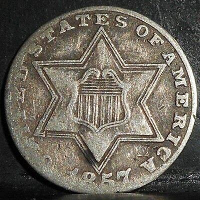1857 3 Cent Silver....
