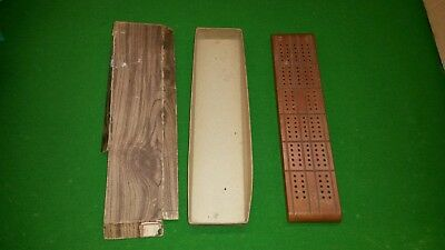 Old Vintage HORN McCrillis No.C-18 Wood CRIBBAGE BOARD GAME in Box EST 1846