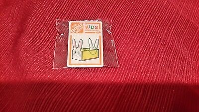 New Home Depot Kids Workshop Easter Rabbit Pin Collectible Rare Collectors