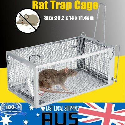 Humane Rat Trap Cage Small Animal Pest Rodent Mice Mouse Control Bait Catch