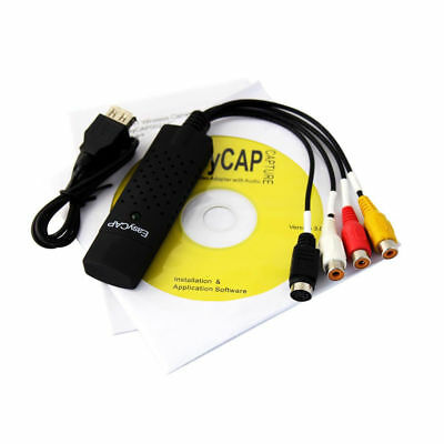 Easycap USB 2.0 Video Audio VHS to DVD Converter Capture Card Adapter Cable T7