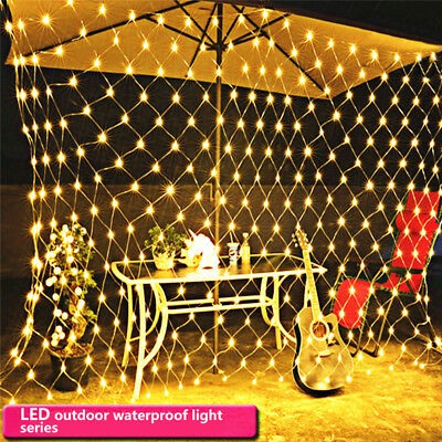 waterproof LED Net Mesh Fairy String Lights Christmas Wedding Party Decoration