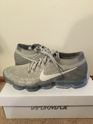 Nike Air Vapormax Flyknit Pale Grey Sail Size 13 Mens DS New Authentic