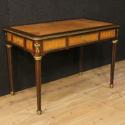 Writing desk table bureau secrétaire wood antique style Directory furniture 900