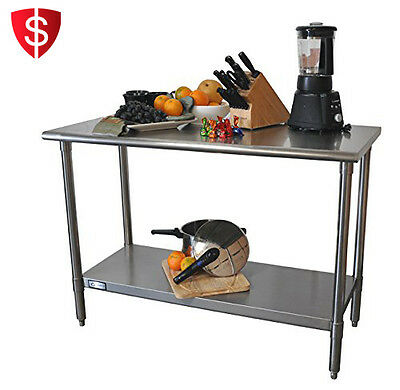 Kitchen Island Table Work Station Cart Prep Utility Stainless Steel