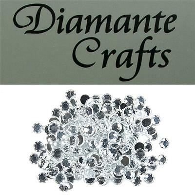 200 x 6mm Clear Diamante Round Loose Flat Back Rhinestone Vajazzle Body Gems