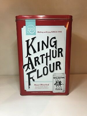 King Arthur Flour 225th Anniversary Commemorative Metal Canister Tin w/ Cover