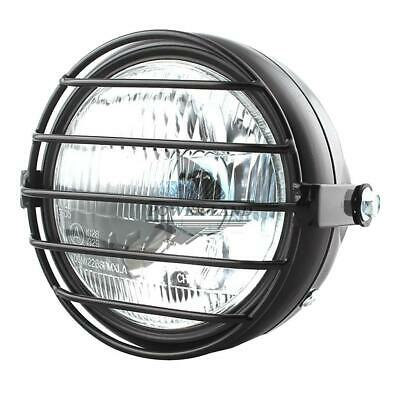 Retro Motorcycle / Motor Head Light with Grill Cover for CG125 GN125 Silver