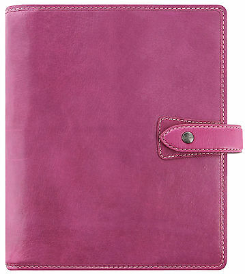 Filofax Malden A5 Size Organiser Fuschia Pink Real Buffalo Leather Diary 026029