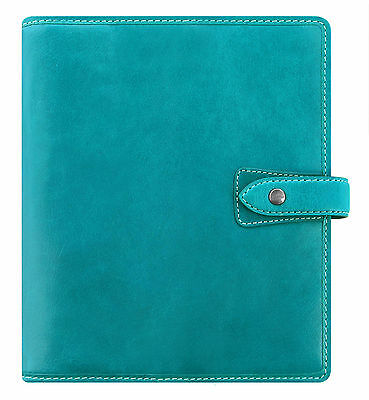 Filofax Malden A5 Organiser Kingfisher Blue Real Buffalo Leather Diary 026027