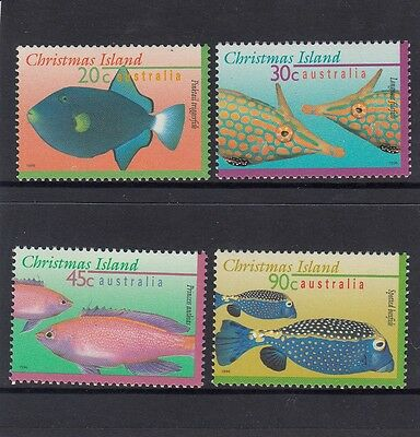 CHRISTMAS Island 1996 FISH Marine Life  set of 4 MNH.