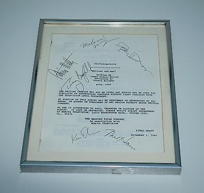 Thirtysomething original script autographed 1990 mel harris timothy busfield