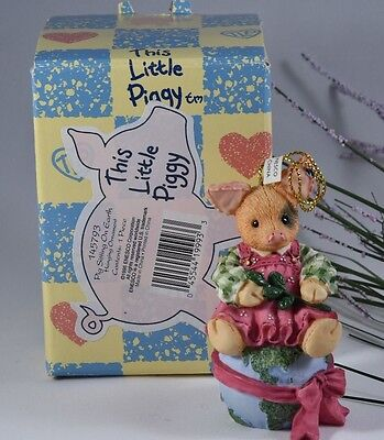 Enesco This Little Piggy Pig Sitting on Earth Ornament 145793