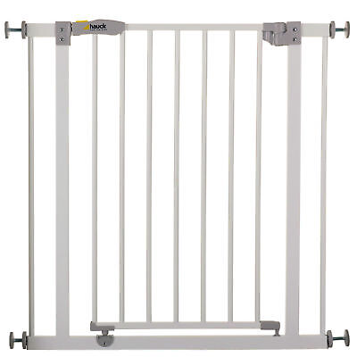 Hauck White Open N Stop Metal Pressure Safety Gate & 21Cm Extension 75 Cm-102 Cm