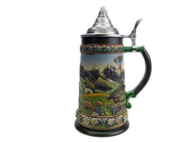 Essence of Europe Gifts Tirol Austrian Alps Beer Stein with Lid