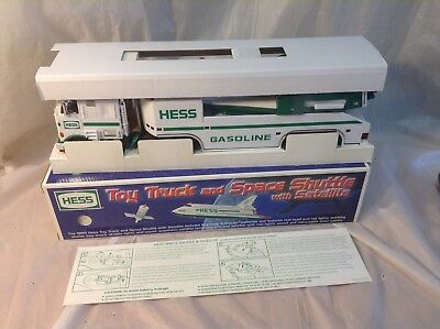 1999 Hess Truck And Space Shuttle With Satellite New In Original Box