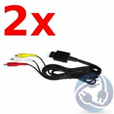 A/V Stereo RCA Audio Video Cables for Nintendo Gamecube SNES N64 GC