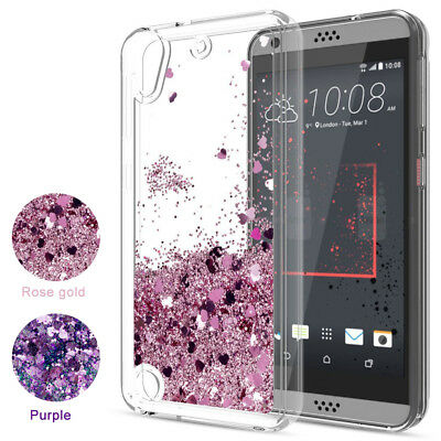 For HTC Phone Case Cute Glitter Liquid Quicksand Clear Soft TPU Protective Cover