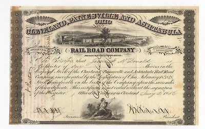 1856 Cleveland, Painesville and Ashtabula Railroad Co. Stock Certificate