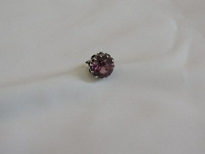 Sterling Silver Ring Jewelry Mexico Size 8 Purple Vintage (ab1042)