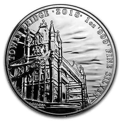 2018 GB 1 oz Silver Landmarks of Britain (Tower Bridge) - SKU #152506