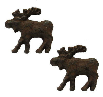 Rustic Moose Metal Drawer Knob Pulls - Lodge Decor
