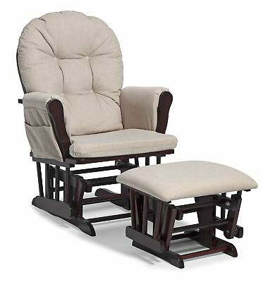 Stork Craft Hoop Glider and Ottoman Set Cherry/Beige