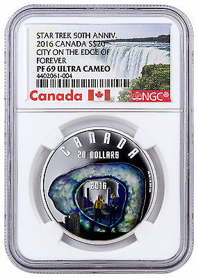 2016 Canada 1oz Proof Silver Star Trek City on Edge of Forever NGC PF69 SKU43086