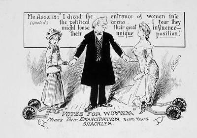 Print. ca 1913. Women's Suffrage. Emancipation from Shackles