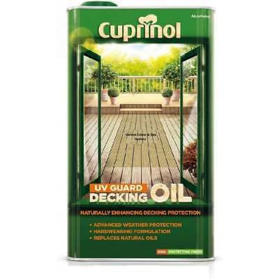 Cuprinol UV Gaurd Decking Oil | 2.5 & 5 Litre In  A Selection of Natural Colours