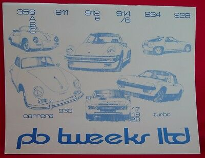 Porsche PB Tweeks Ltd Spare Parts Vintage Catalog