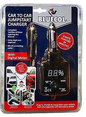 Bluecol Car to Car Jump Start battery Charger - No Jump leads Required