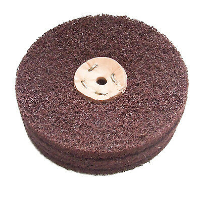 "6"" x  2"" COARSE GRADE SCOTCH BRITE LAP MOP ABRASIVE BUFFING WHEEL RUST REMOVAL"