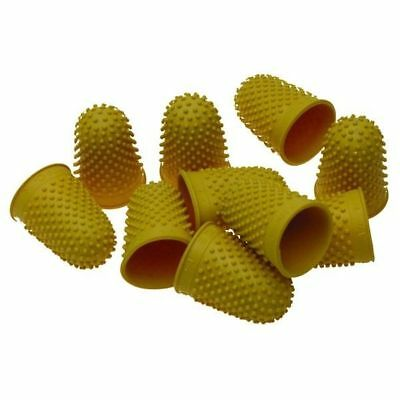 Quality Thimblettes Rubber Thimblette Yellow Size 2 20mm Finger Cone Thimble
