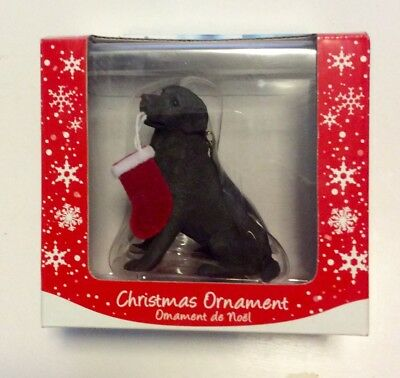 Sandicast Christmas Ornament Labrador Retreiver Choc New In Box