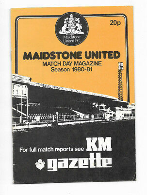 1980/81 FA Cup 1st Round Replay - MAIDSTONE UNITED v. KETTERING TOWN