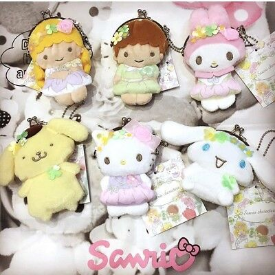 2017 NEW SANRIO CHARACTERS Fairy plush Coin purse Pick 1: Hello Kitty My Melody