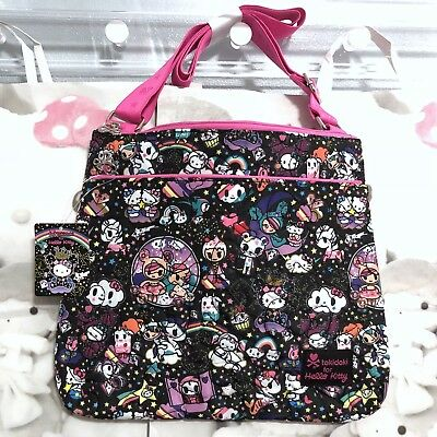 2017 NEW Tokidoki HELLO KITTY Space Cosmic crossbody pouch, pattern placement 💎