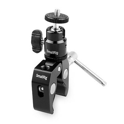 SmallRig Clamp Mount with Ball Head Mount Hot Shoe Adapter and Cool Clamp - 1...