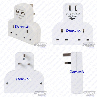 New 3 Way Adaptor 3 Gang Fused Plug Multi Socket Extension Adapter UK SELLER ✔