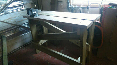 Wooden Work Bench With new engineers vice