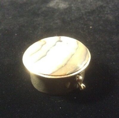Alpaca Mexico Hinged Pill Box Abalone Top