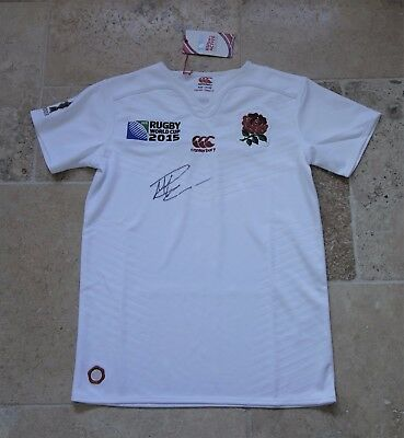 Mike Brown Hand Signed England Rugby Union World Cup Shirt with COA