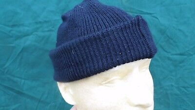 a16275d8545 ORIGINAL VINTAGE 1940 S WWII US Navy Blue Wool Knit Watch Cap with ...