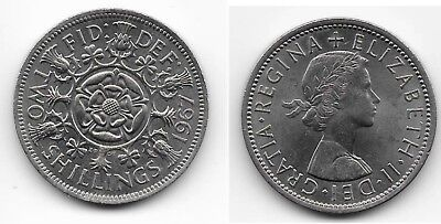 1967 Great Britain Florin, Two Shillings, AU