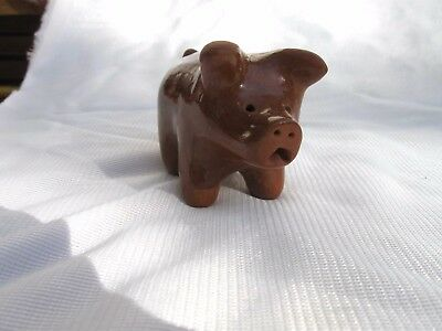 Antique Cute Small Brown Pig
