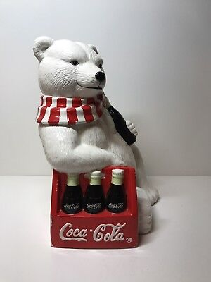 Coca Cola Bear Six Pack Cookie Jar 1998 Limited Edition